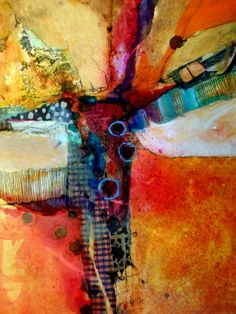 Orange Crush from Wan Marsh Studio x acrylic and combined media on canvas) Arte Digital Fantasy, Abstract Expressionism, Abstract Art, Abstract Paintings, Art Plastique, Contemporary Paintings, Oeuvre D'art, Collage Art, Collages
