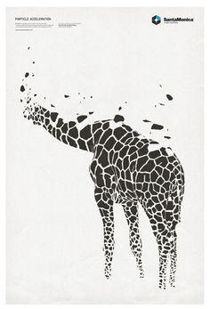 print poster - giraffe