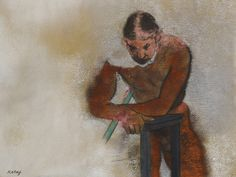 Dying Life Model 1978 Pastel on paper rb kitaj pastel paintings - Google Search