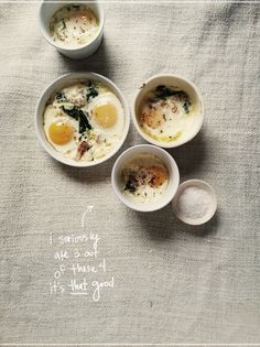 // baked eggs recipe from designlovefest
