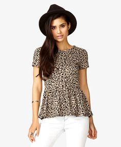 Ahhh so cute! Leopard print peplum top from Forever 21 for $16