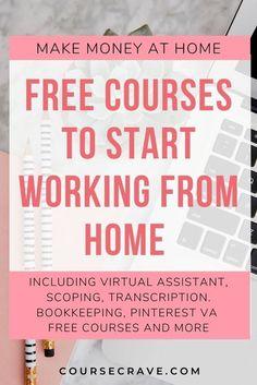 Transcription Training, Bookkeeping Training, Bookkeeping Course, Bookkeeping Business, Work From Home Business, Work From Home Tips, Starting Your Own Business, Make Money From Home, How To Make Money