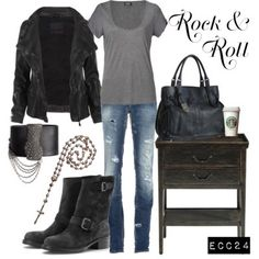 Rock style - Dean Winchester :P Rock Style, Style Me, Rock Chic, Glam Rock, How To Have Style, Fashion Outfits, Womens Fashion, Emo Outfits, Punk Fashion