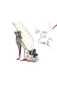 A Sketch of Louboutin's Glass Slipper....    Whaaaa????