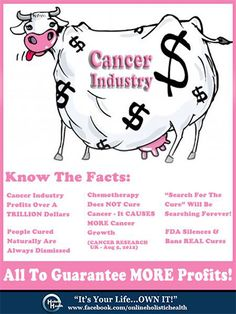 Stop REAL Cancer Cures From Being Silenced!!   Know The Facts And Truth About Chemotherapy & The Cancer Industry -   Or Rather The Cancer PROFIT Monopoly!