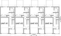 Main Floor Plan 2 for D-441 Multifamily house plans, reverse living house plans, D-441