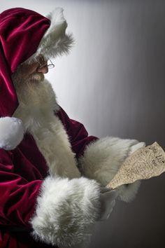 Santa checking the Naughty or Nice List
