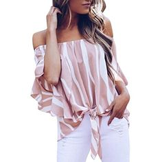 MOONHOUSE 2018 New Spring Fashion Women Off Shoulder Sexy ...  5.99 Casual  T Shirts f9a0141a2
