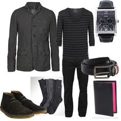 #Mens #Fashion #MensFashion Men's Outfit Bland and Grey
