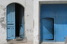The Blue Color Hues of Door and Home Design in Essaouira, Morocco