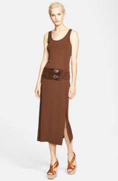 Michael Kors Buckled Jersey Tank Dress