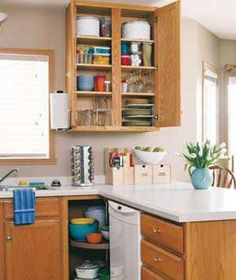 Tips for cleaning out your kitchen cabinets.