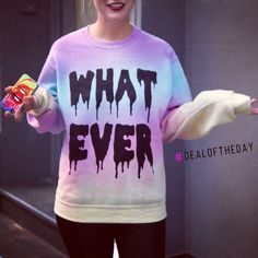 """#DealoftheDay- Get 15% off this sweatshirt by Luncchb0xx using code """"WHAT15"""" at checkout on #NYLONshop"""
