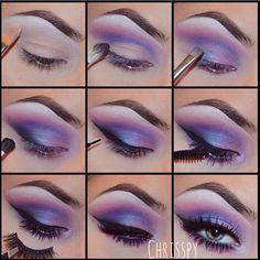 Beautiful Purple Eye Makeup Eyeshadow Tutorial Summer Eyeshadow Looks BEAUTIFUL Eye Eyeshadow Makeup Purple tutorial Eye Makeup Glitter, Purple Eye Makeup, Purple Eyeshadow, Eyeshadow Makeup, Eyeshadow Palette, Makeup Brushes, Makeup Remover, Mermaid Eye Makeup, Eyeshadow Ideas