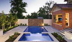 Model desain kolam renang kecil minimalis modern