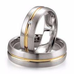 Alianças De Prata 950 Compromisso E Namoro Banhado A Ouro