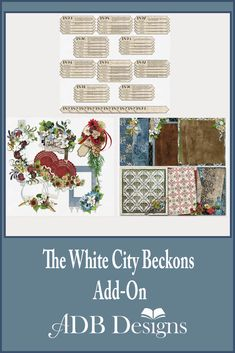 The White City Beckons Mega Bundle needed more!  These add-ons give you more goodness to work with: additional clusters, some stackers and some significant time saving event tags.  It is a heritage loving, digital scrapbooking dream come true. http://www.godigitalscrapbooking.com/shop/index.php?main_page=advanced_search_result&keyword=white+city&categories_id&inc_subcat=1&manufacturers_id=171&pfrom&pto&dfrom&dto&x=19&y=14