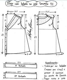 blusas de encaje patrón con / blusas / SECOND STREET