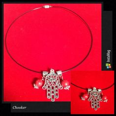 Kalung chooker Hamsa  Pemesanan  Line : dhevee_dhe WA 081319707207  #gelang #gelangcantik #gelangsimple #jualgelang #gelangmutiara #gelangnbatu #kalung  #jualkalung #kalungmurah #kalungunik #kalungdhesign #acceccories #jualaksesoris #handmade #Seller #onlineshop #instashop #fashion #style #simple #beautiful #kalungbatu
