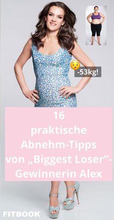 """Im April hat Alexandra (33) die TV-Show """"The Biggest Loser"""" gewonnen. Sie nahm 43 Kilo ab und schaffte es sogar, noch fünf weitere Kilo zu verlieren. Bei FITBOOK gibt sie Tipps, wie es jeder schaffen kann, ein gesundes Gewicht zu erreichen – und was man tun kann, um Rückschläge zu vermeiden."""