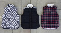 On our essentials list for fall? These Under Skies vests. The perfect layer for going from indoors to outside.