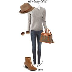"""""""Fall Monday OOTD"""" by mtngusa on Polyvore"""