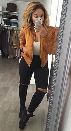 Bomber jacket outfit /KortenStEiN/                                                                                                                                                      More