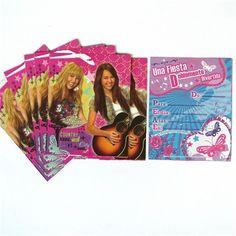 Invitaciones de fiesta Hannah Montana - Artículos de Fiesta