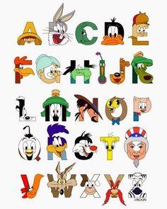 Resultado de imagen para letras  personalizados de looney toons