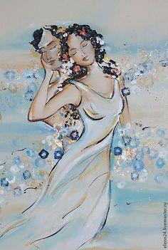 """""""Бриз"""" - голубой,любовь,пара,мужчина и женщина,счастье,отношения,интерьер"""