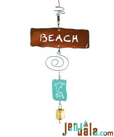 BEACH DOLPHIN Chime, $34 http://jendala.com/affirmation-ornament-h