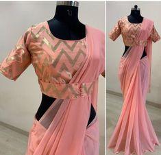 New Saree Blouse Designs, Saree Designs Party Wear, Blouse Designs High Neck, Saree Blouse Patterns, Fancy Blouse Designs, Designer Blouse Patterns, Stylish Blouse Design, Stylish Sarees, Sabyasachi