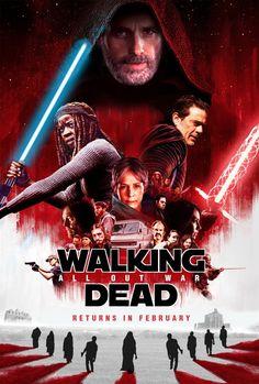 twd_tlj The Walking Dead: Tribut an Star Wars The Last Jedi Walking Dead Funny, Walking Dead Season 8, Walking Dead Tv Series, Fear The Walking Dead, Star Wars Film, Twd Memes, Best Zombie, Mark Hamill, Dead Inside