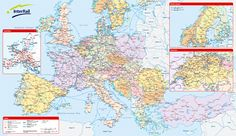InterRail rail map of Europe 2012