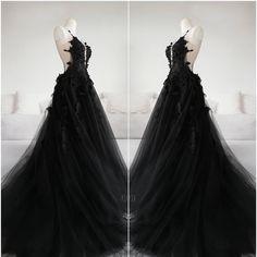 black and blue gothic wedding dresses Black Wedding Gowns, Gothic Wedding, Dream Wedding Dresses, Ball Dresses, Ball Gowns, Evening Dresses, Prom Dresses, Elegant Dresses, Pretty Dresses