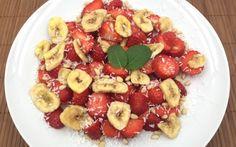 Farandole de fraises et bananes séchées