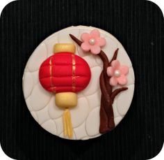 Chinese New Year Cupcakes Fondant Cupcake Toppers, Cupcake Icing, Cookie Icing, Royal Icing Cookies, Chinese New Year Desserts, Chinese New Year Cookies, Chinese New Year Decorations, Chinese Cake, Chinese Party