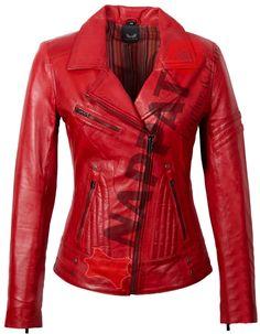 LADYS LEATHER JACKET JANE 5 RED