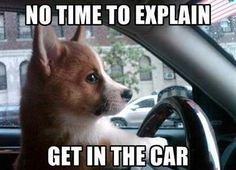 We'll make a quick getaway!!