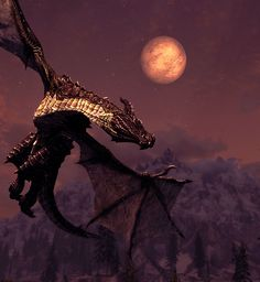 Skyrim dragon! Love the way these dragons look, so beautiful!