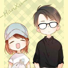 He's just my type hehe Anime Couples Manga, Cute Anime Couples, Manga Anime, Anime Art, Loli Kawaii, Kawaii Chibi, Kawaii Anime Girl, Chibi Boy, Cute Anime Chibi