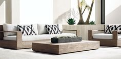 Marbella Teak Collection- Weathered Grey Teak (Outdoor Furniture CG) | RH Modern