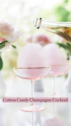 Cocktail Drinks, Cocktail Recipes, Pink Cocktails, Easy Cocktails, Pink Alcoholic Drinks, Drink Recipes, Non Alcoholic Champagne, Party Drinks Alcohol, Sweet Cocktails