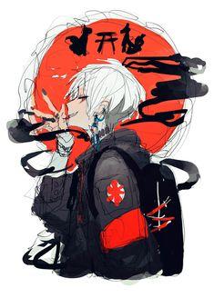 Manga Art, Anime Art, Anime Lindo, Image Manga, Cute Anime Guys, Anime Boys, Cyberpunk Art, Animes Wallpapers, Boy Art