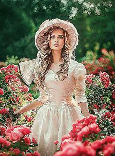 Beauty In Art, Girls With Flowers, Photo Art, Aurora Sleeping Beauty, Victorian, Disney Princess, Disney Characters, Gifs, Woman