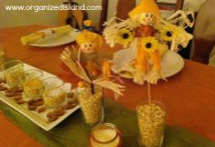 Cheap thanksgiving decorations on pinterest halloween for Thanksgiving decorations ideas for office