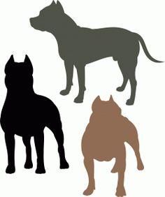 Pittbull dog set