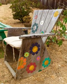 Flower Chair found on the path to the beach in Leucadia, California