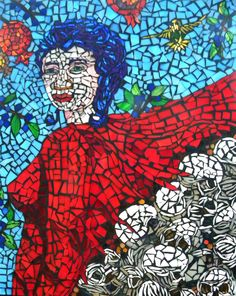 The Amiable Henriette Illuminated mosaic on plexiglass x Mosaic Glass, Glass Art, Illumination Art, Spiderman, Superhero, Fictional Characters, Spider Man, Fantasy Characters, Amazing Spiderman