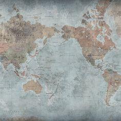 Fototapet de înaltă calitate, Around The World din colectia HOME #9, produs în Suedia, de designerii Rebel Walls.